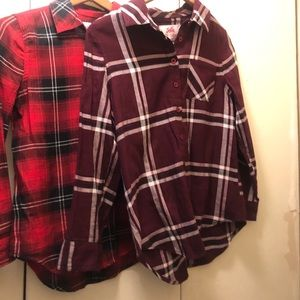 Justice checker shirt size 14/16 new with no tag